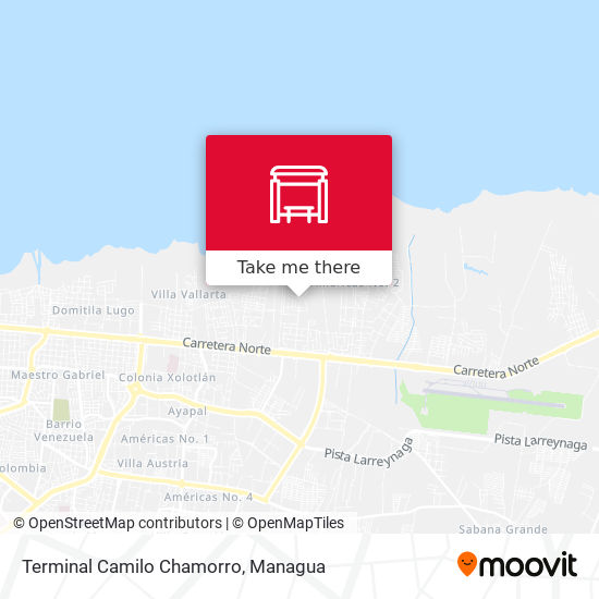 Terminal Camilo Chamorro map