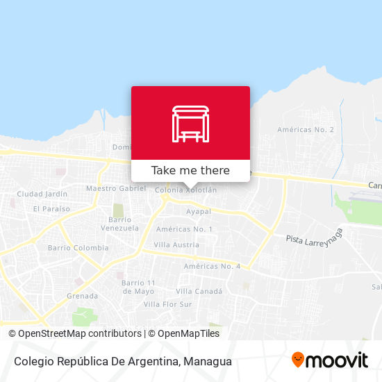 Colegio República De Argentina map