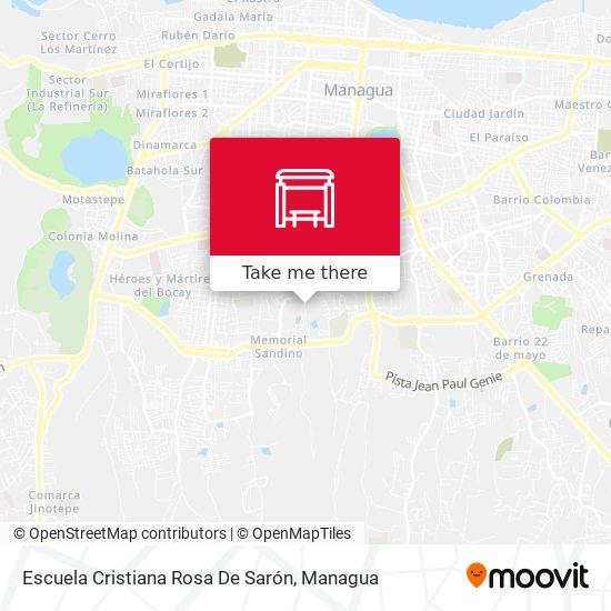 Escuela Cristiana Rosa De Sarón map