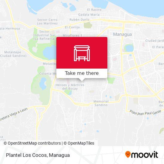 Plantel Los Cocos map