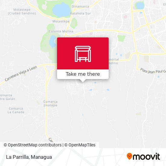 La Parrilla map