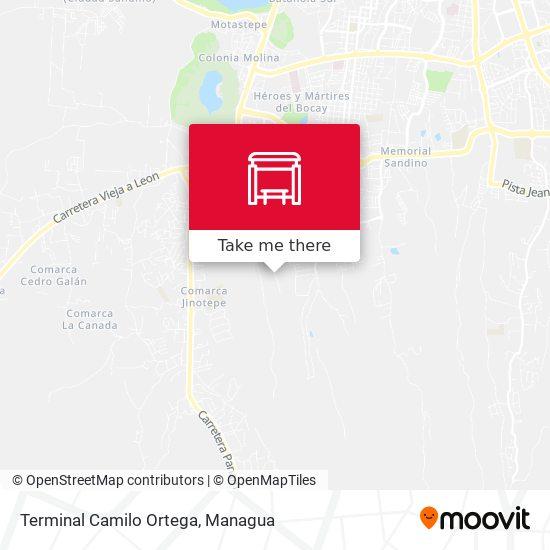 Terminal Camilo Ortega map