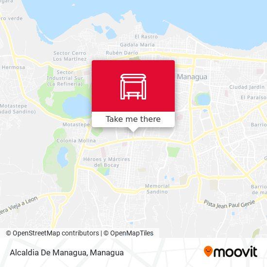 Alcaldia De Managua map