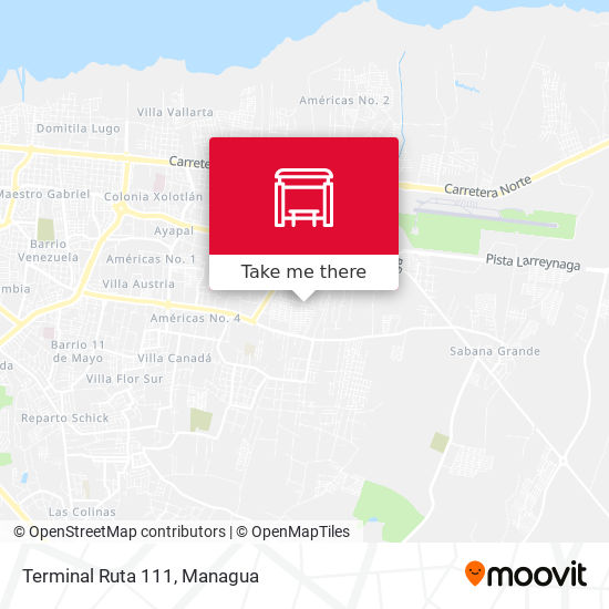 Terminal Ruta 111 map