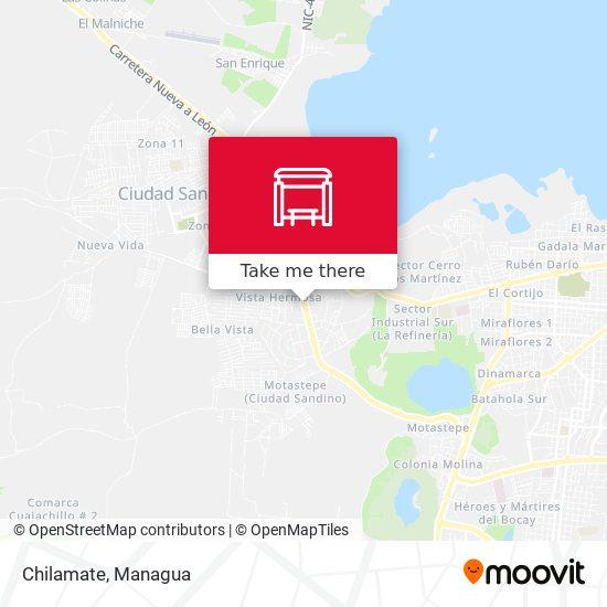 Chilamate map
