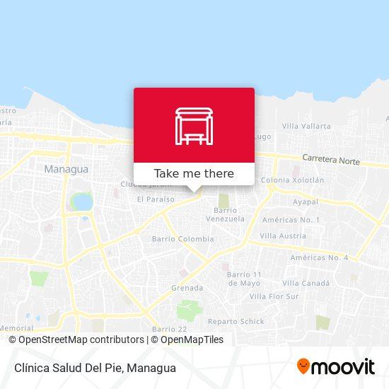 Clínica Salud Del Pie map