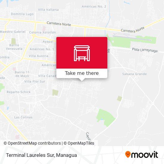 Terminal Laureles Sur map