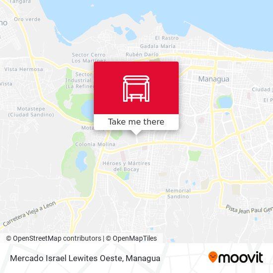 Mercado Israel Lewites Oeste map