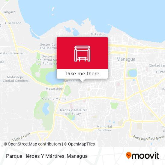 Parque Héroes Y Mártires map
