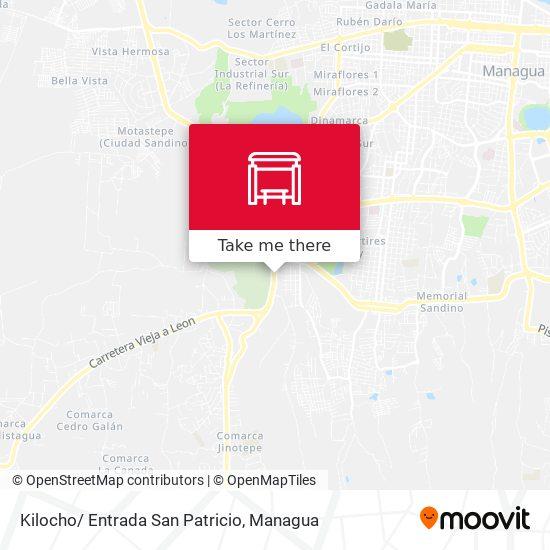 Kilocho/ Entrada San Patricio map
