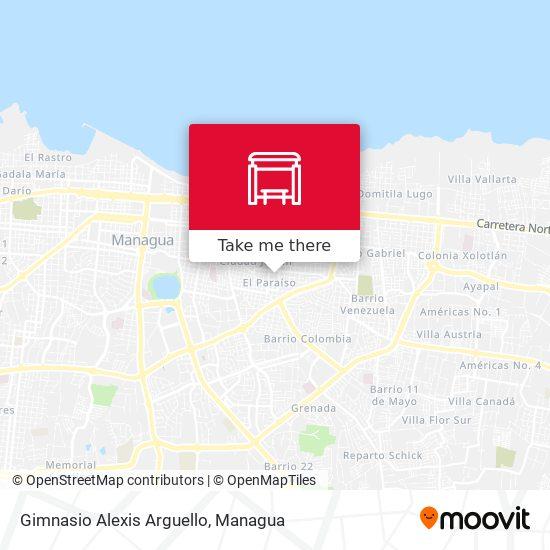 Gimnasio Alexis Arguello map