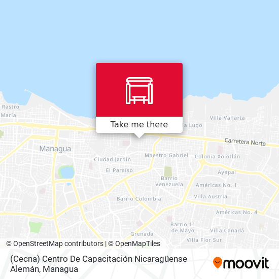 (Cecna) Centro De Capacitación Nicaragüense Alemán map