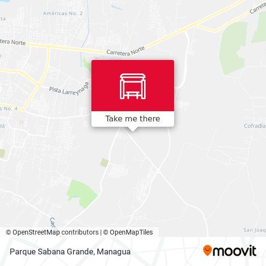 Parque Sabana Grande map