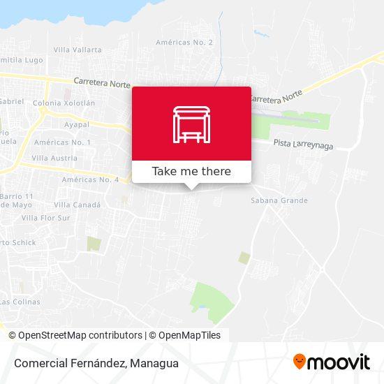 Comercial Fernández map