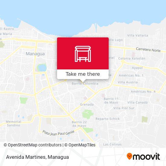 Avenida Martines map
