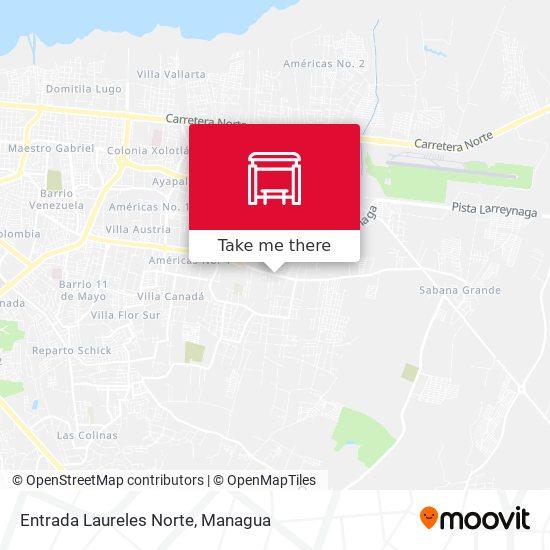 Entrada Laureles Norte map