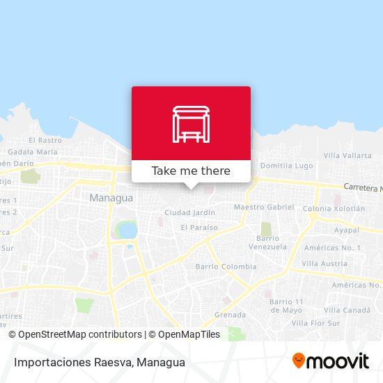 Importaciones Raesva map