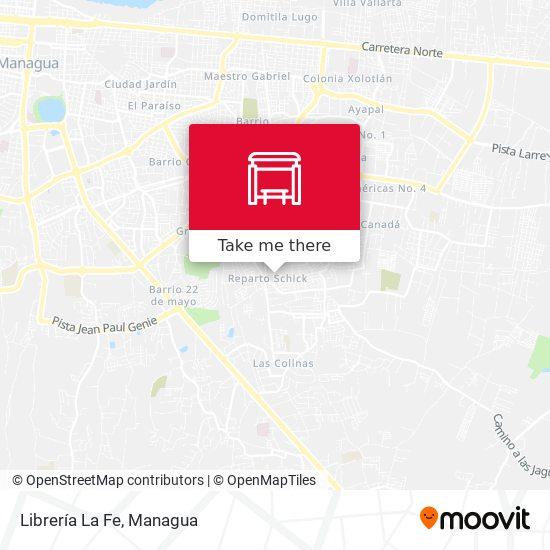 Librería La Fe map