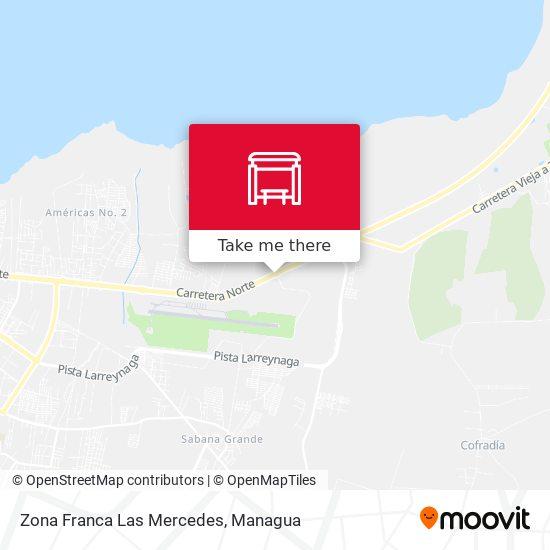 Zona Franca Las Mercedes map