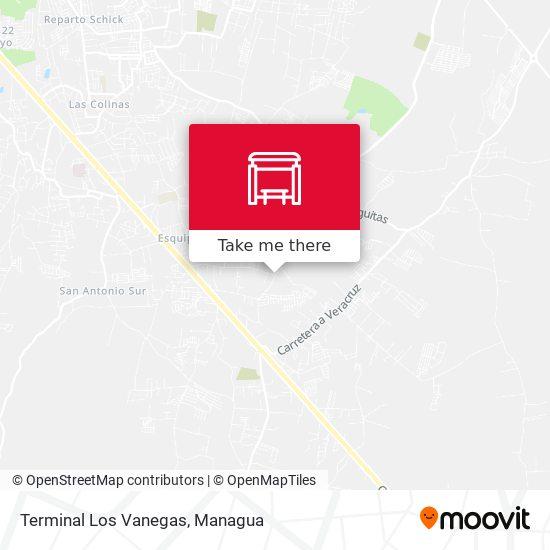 Terminal Los Vanegas map
