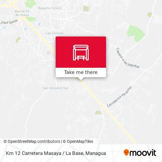 Km 12 Carretera Masaya / La Base map
