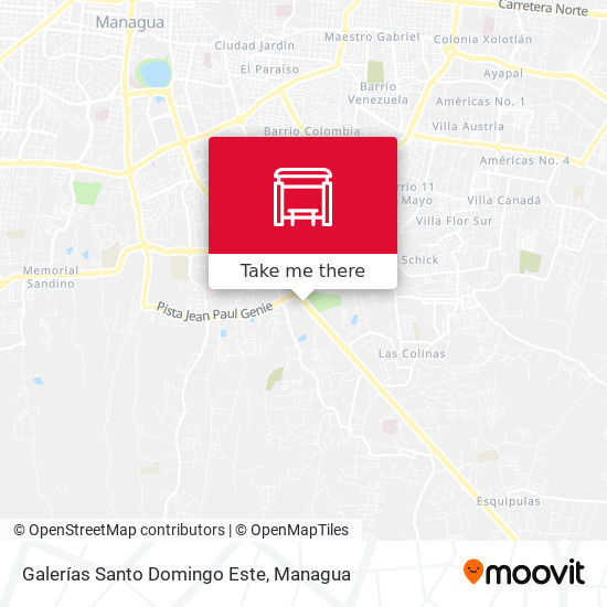 Galerías Santo Domingo Este map