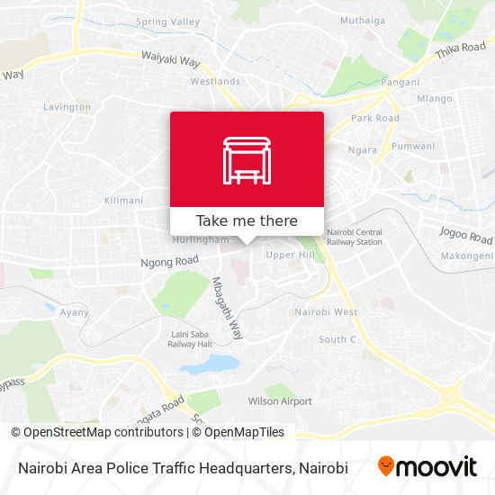 Nairobi Area Police Traffic Headquarters map