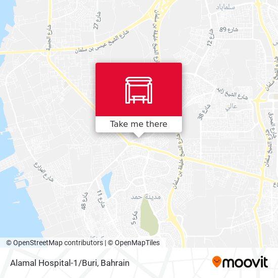 Alamal Hospital-1/Buri map