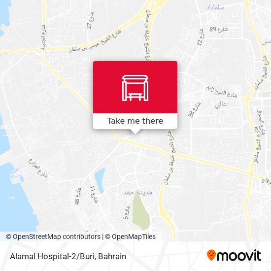 Alamal Hospital-2/Buri map