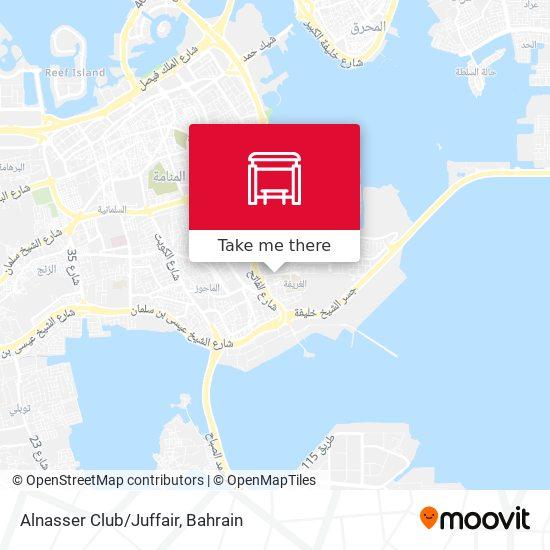 Alnasser Club/Juffair map