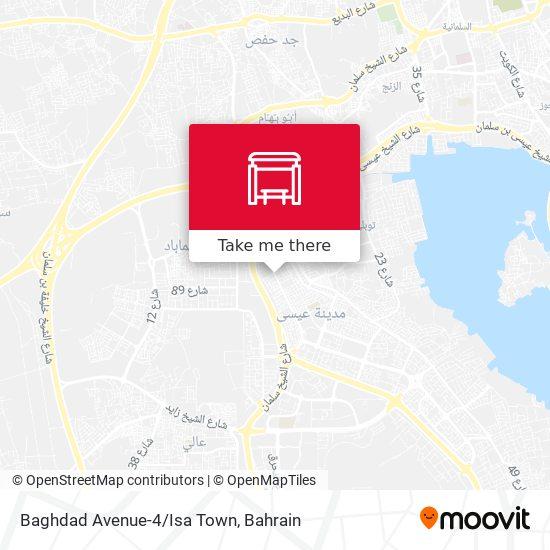 Baghdad Avenue-4/Isa Town map