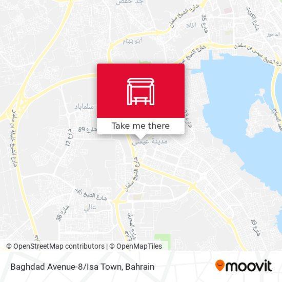 Baghdad Avenue-8/Isa Town map