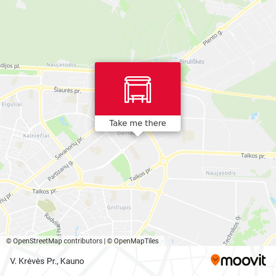V. Krėvės Pr. map