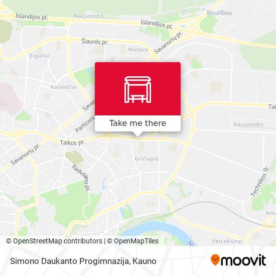 Simono Daukanto Progimnazija map
