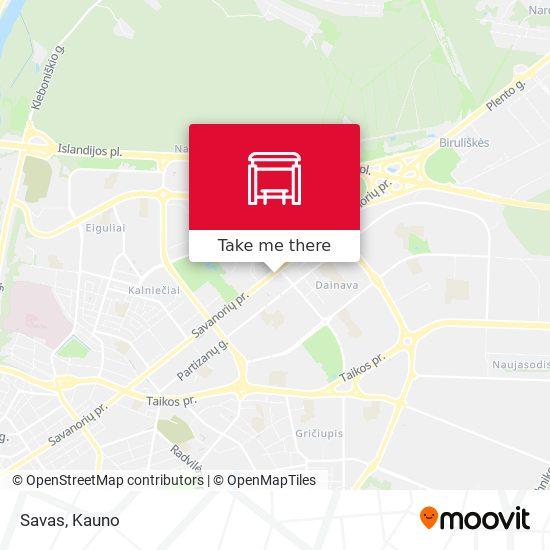 Savas map