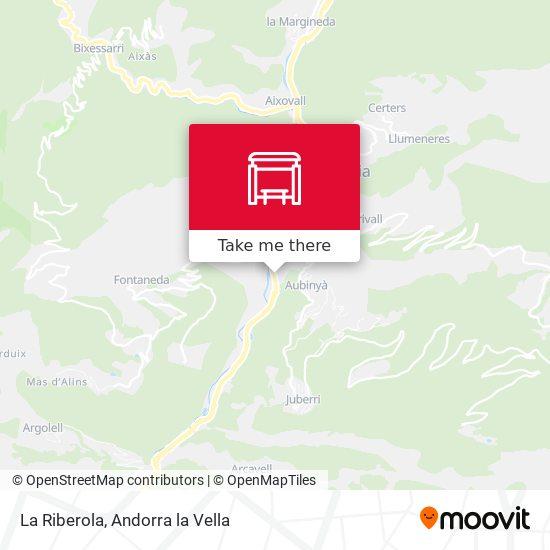 La Riberola map