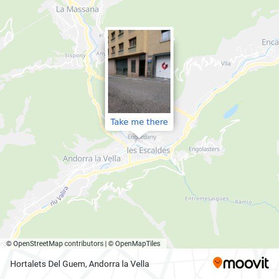 Hortalets Del Guem map