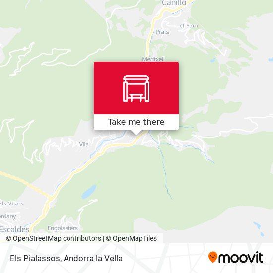 Els Pialassos map