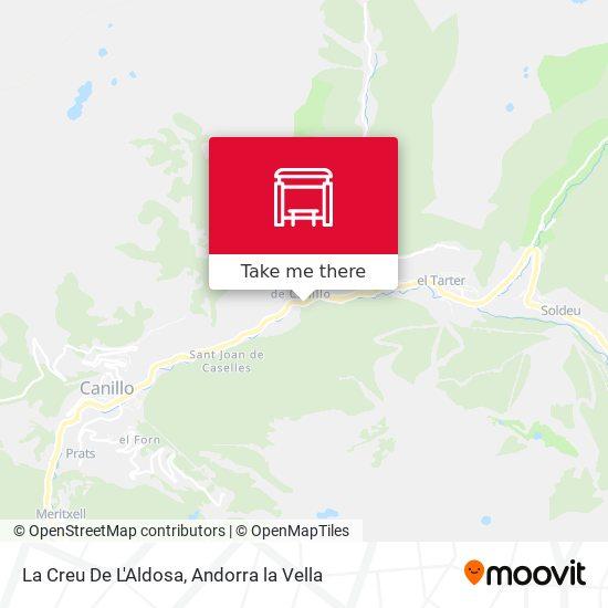 La Creu De L'Aldosa map
