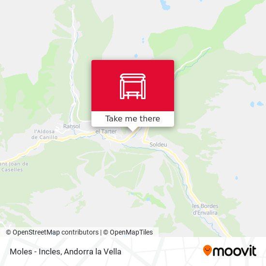 Moles - Incles map