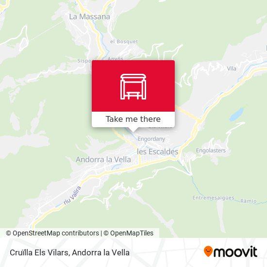 Cruïlla Els Vilars map