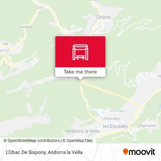 L'Obac De Sispony map