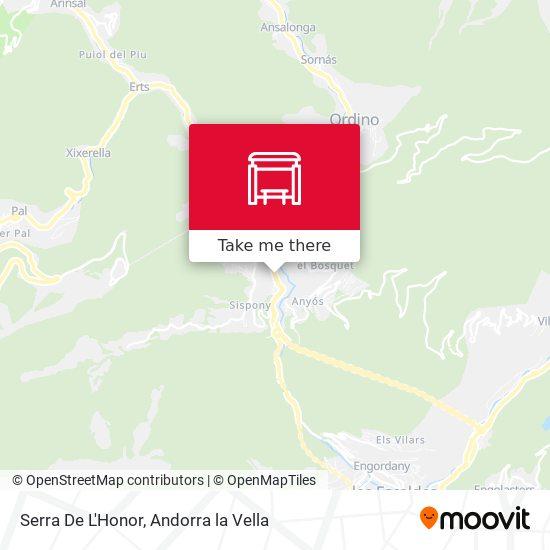 Serra De L'Honor map