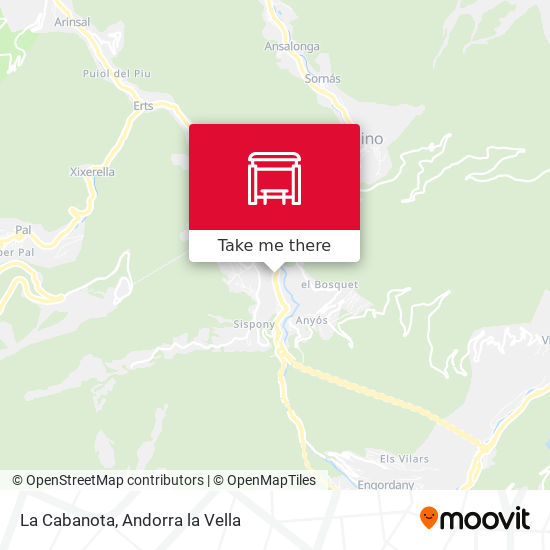 La Cabanota map
