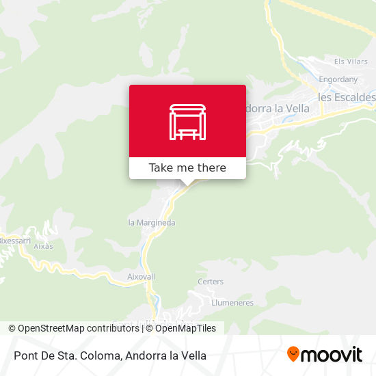 Pont De Sta. Coloma map