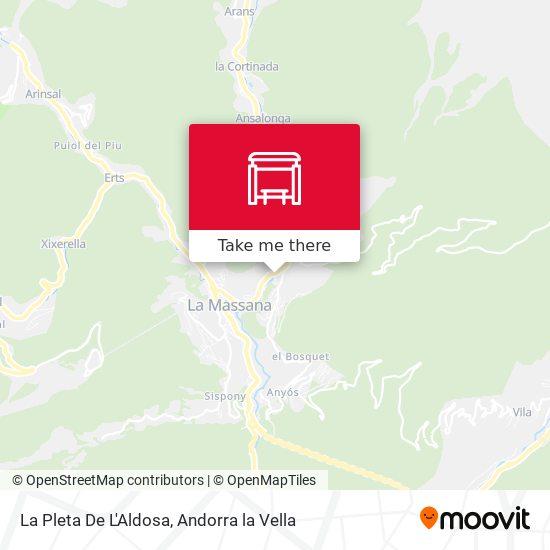 La Pleta De L'Aldosa map