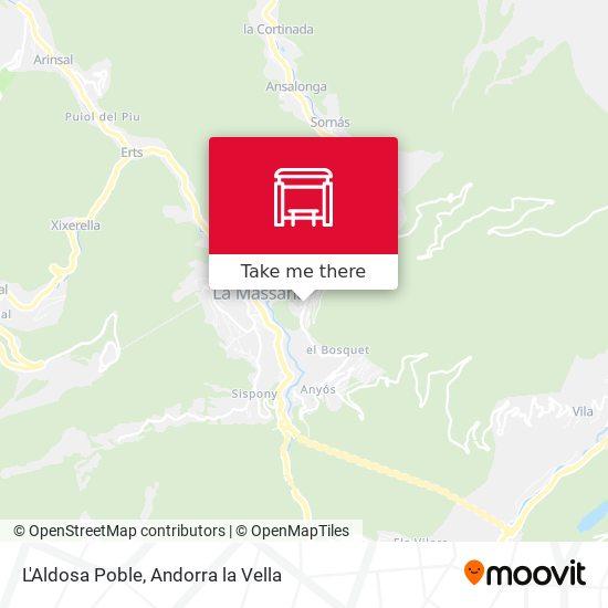 L'Aldosa Poble map