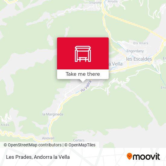Les Prades map