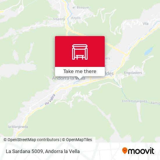 La Sardana 5009 map