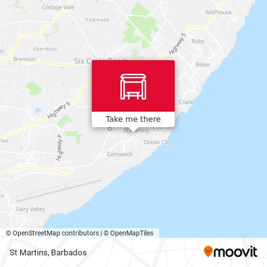 St Martins map